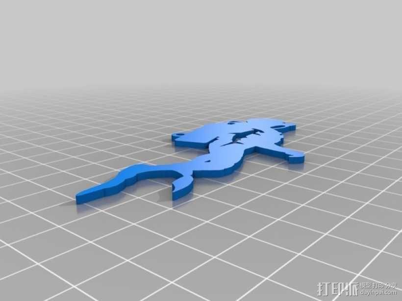 潜水员 吊坠 3D模型  图5