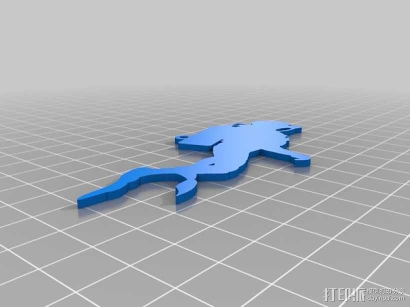 潜水员 吊坠 3D模型  图11