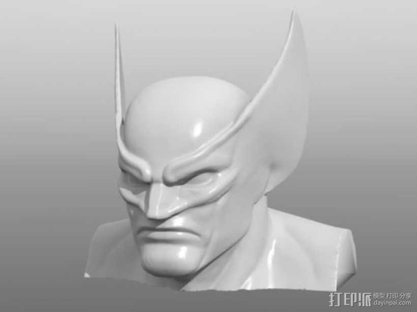 金刚狼头像模型 3D模型  图1