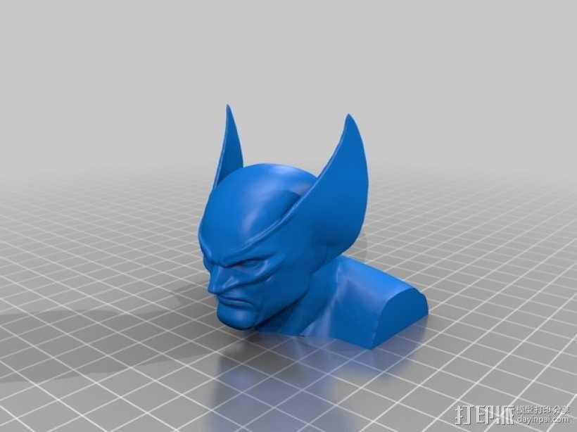 金刚狼头像模型 3D模型  图2