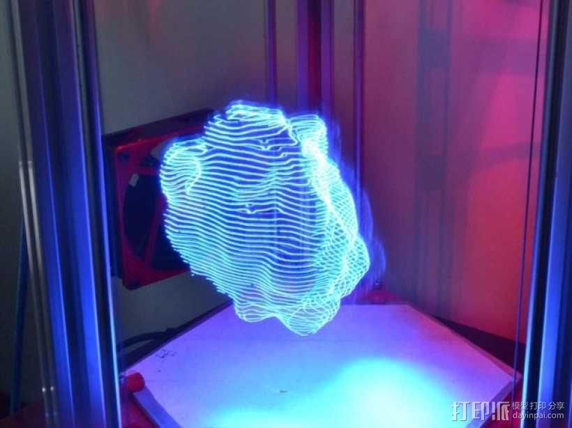 分割光之灯 3D模型  图1