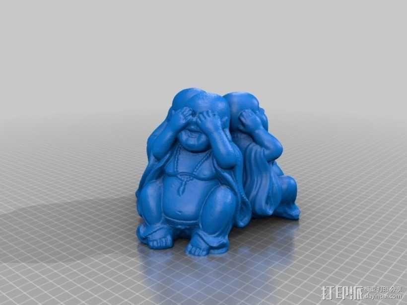 佛陀雕像模型 3D模型  图2