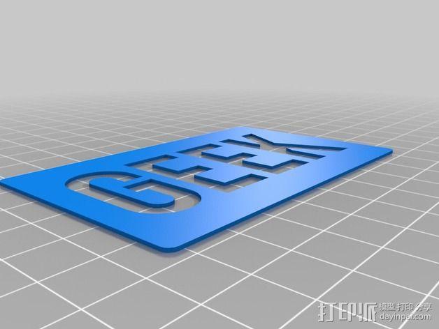 极客卡 3D模型  图7