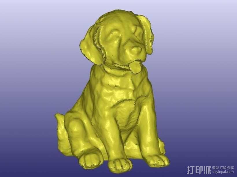 小拉布拉多犬模型 3D模型  图3