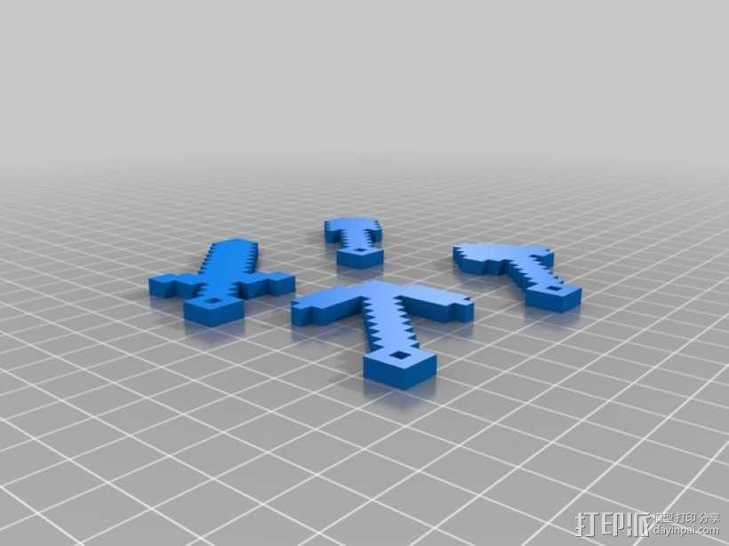 小工具钥匙链 3D模型  图1
