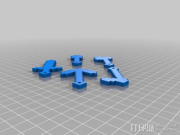 小工具钥匙链 3D模型  图2