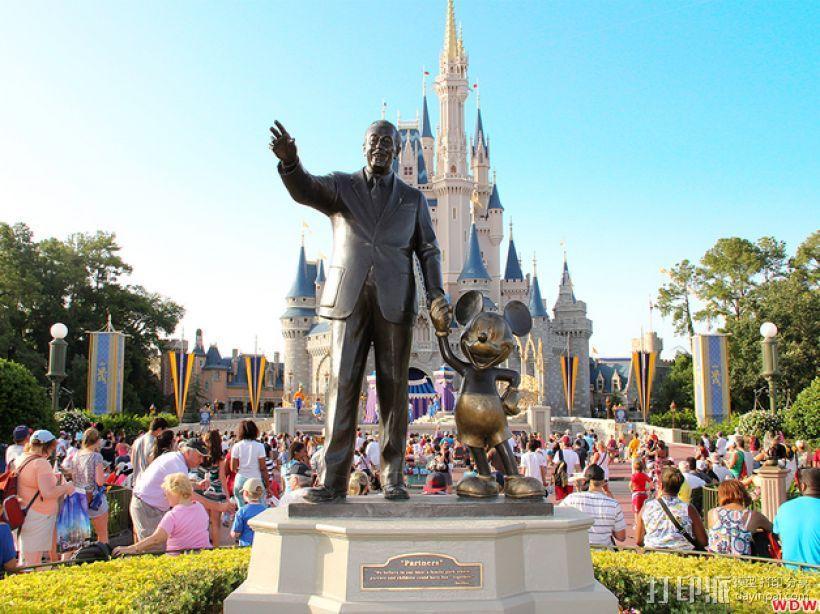 """华特迪士尼的""""伙伴""""雕像 3D模型  图1"""