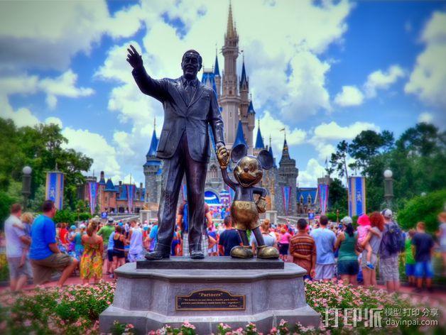 """华特迪士尼的""""伙伴""""雕像 3D模型  图2"""