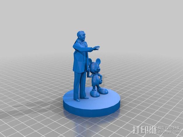 """华特迪士尼的""""伙伴""""雕像 3D模型  图3"""