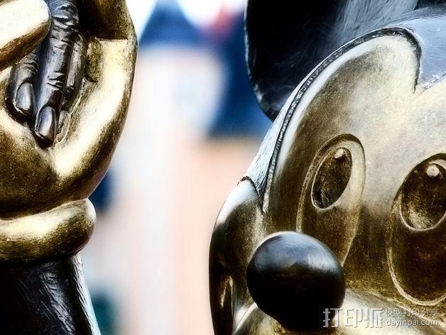 """华特迪士尼的""""伙伴""""雕像 3D模型  图4"""