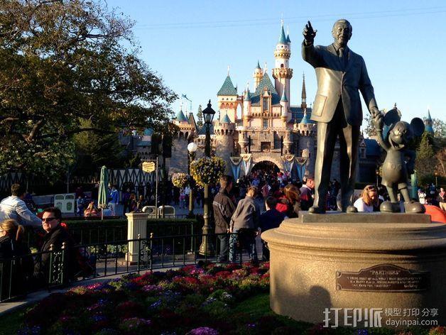 """华特迪士尼的""""伙伴""""雕像 3D模型  图7"""