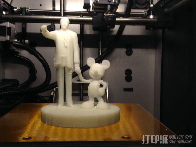 """华特迪士尼的""""伙伴""""雕像 3D模型  图10"""