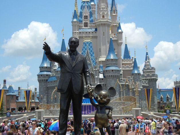 """华特迪士尼的""""伙伴""""雕像 3D模型  图8"""