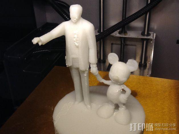 """华特迪士尼的""""伙伴""""雕像 3D模型  图11"""
