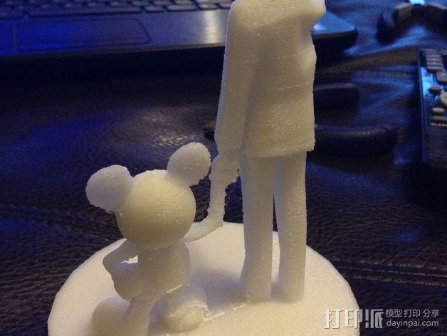 """华特迪士尼的""""伙伴""""雕像 3D模型  图14"""
