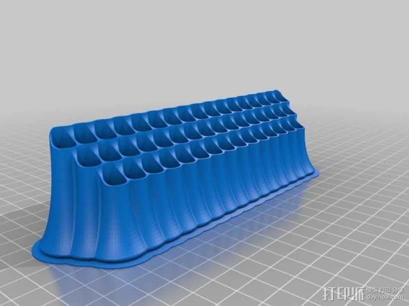 48头铅笔筒 3D模型  图2