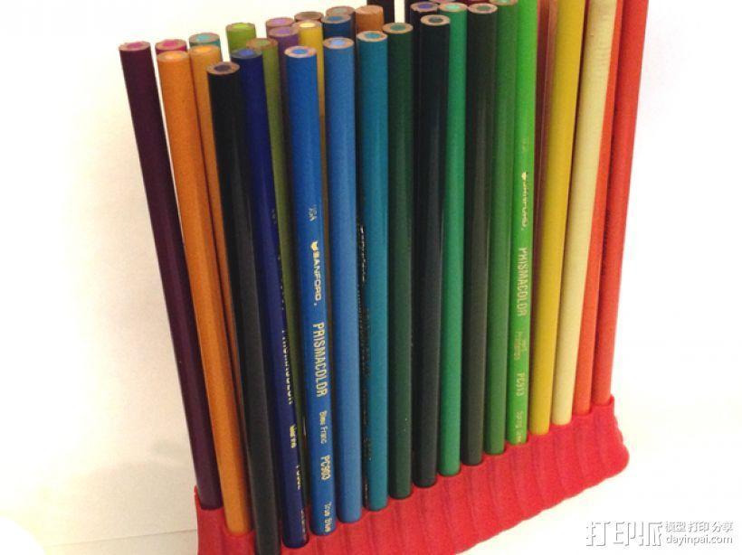 48头铅笔筒 3D模型  图3
