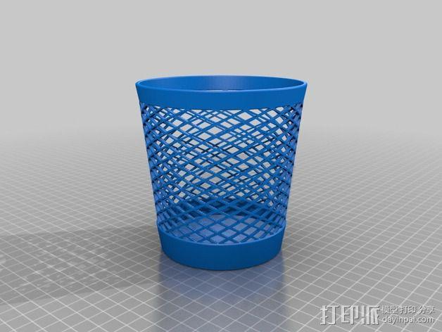 回收桶 3D模型  图4