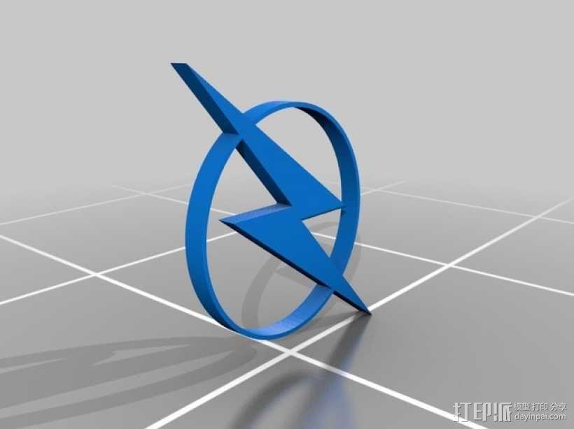 闪电标识 3D模型  图1