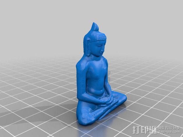 冥想的大佛 3D模型  图3