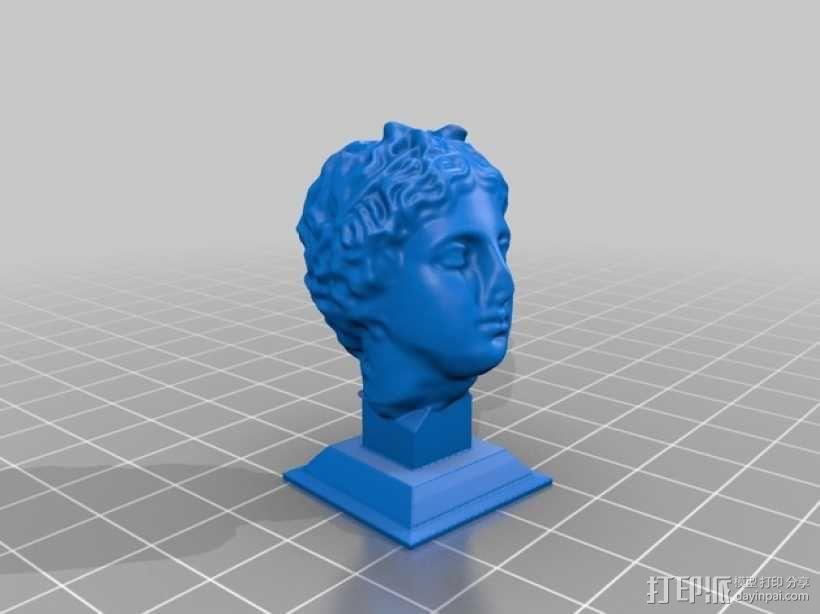 罗曼头像雕塑模型 3D模型  图2