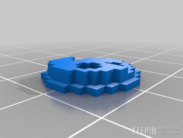 《口袋妖怪-水晶》中Johto的徽章 3D模型  图3