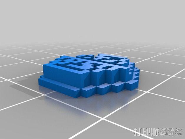 《口袋妖怪-水晶》中Johto的徽章 3D模型  图6