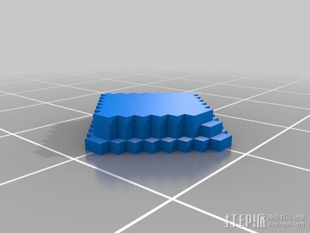 《口袋妖怪-水晶》中Johto的徽章 3D模型  图8
