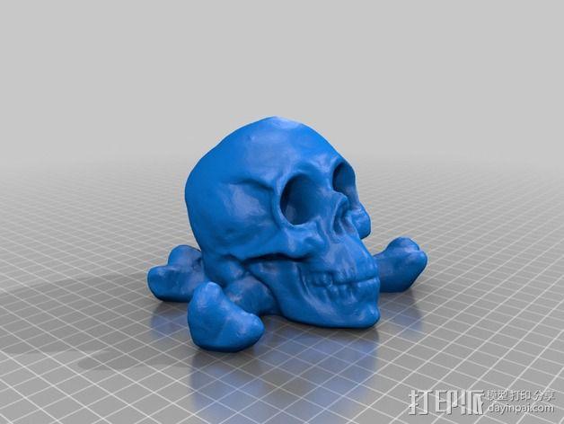 十字交叉骷髅 3D模型  图3