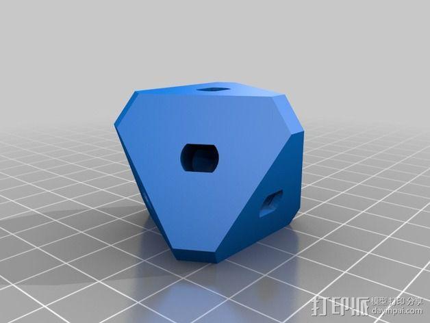 带有可移动底座的机动立方体齿轮 3D模型  图2