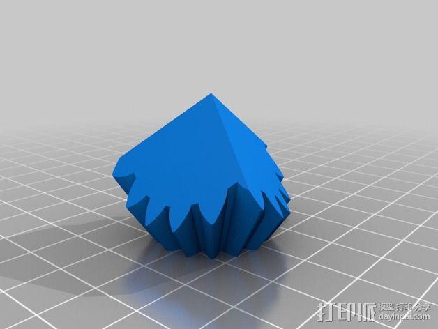 带有可移动底座的机动立方体齿轮 3D模型  图4