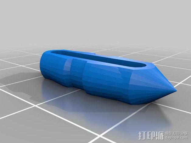 带有可移动底座的机动立方体齿轮 3D模型  图5