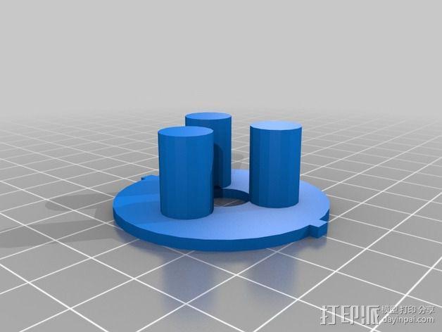 带有可移动底座的机动立方体齿轮 3D模型  图7