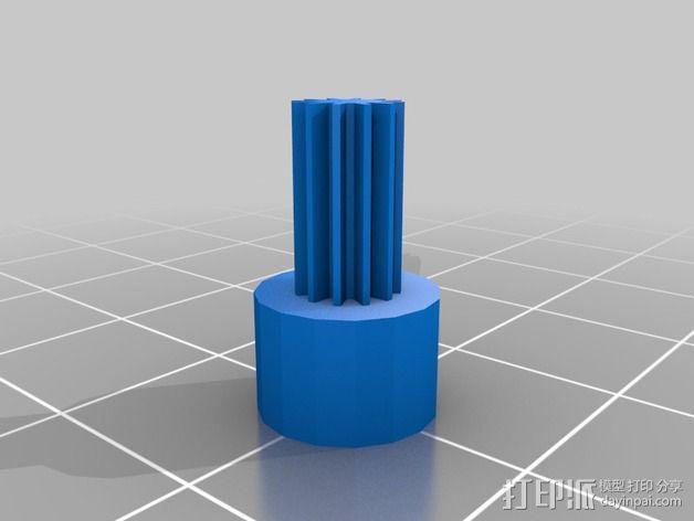 带有可移动底座的机动立方体齿轮 3D模型  图9