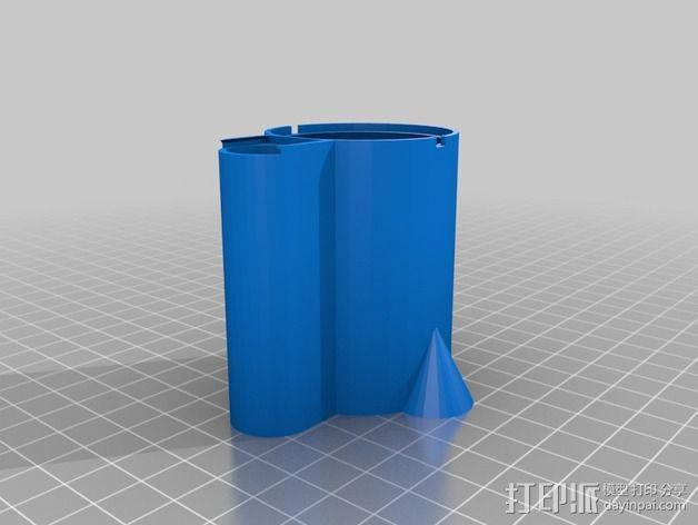 带有可移动底座的机动立方体齿轮 3D模型  图10