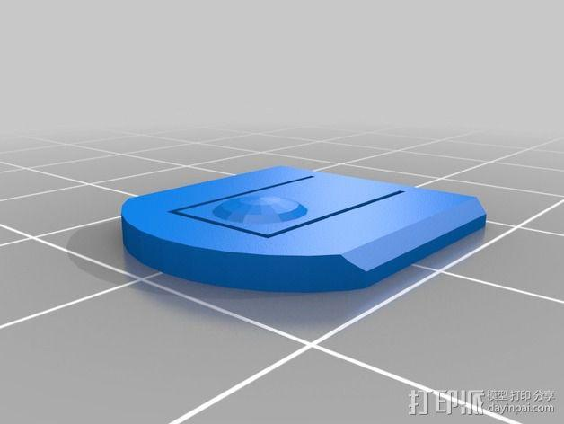 带有可移动底座的机动立方体齿轮 3D模型  图11