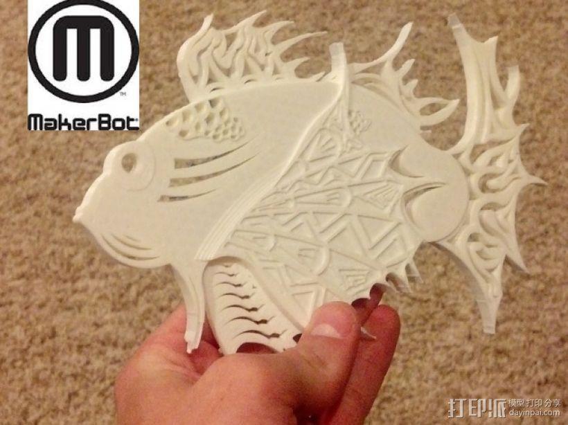 狮子鱼艺术设计 3D模型  图2