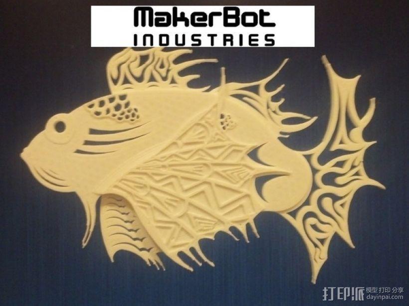 狮子鱼艺术设计 3D模型  图1