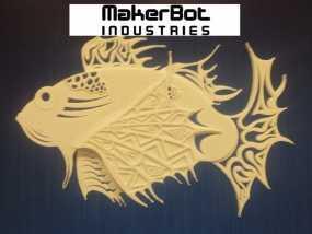 狮子鱼艺术设计 3D模型