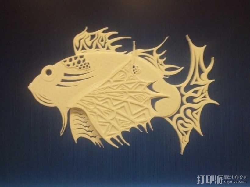 狮子鱼艺术设计 3D模型  图3