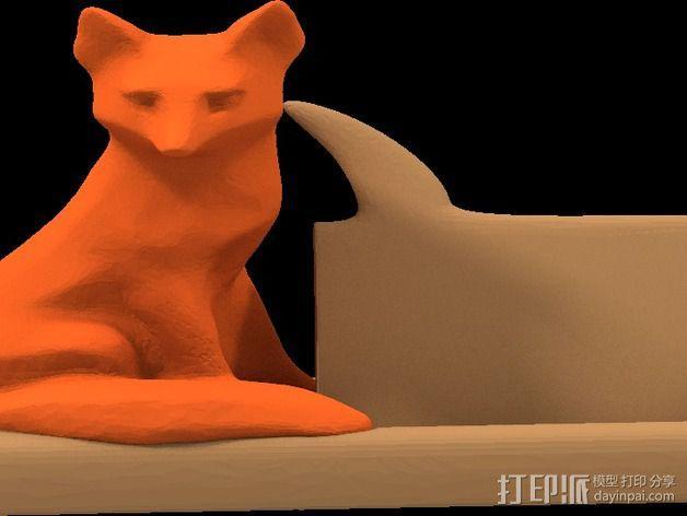 狐狸先生名片夹 3D模型  图2