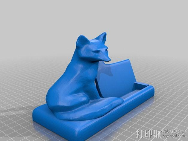 狐狸先生名片夹 3D模型  图3