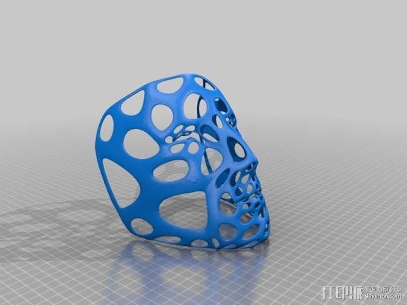 多边形面具-泰森多边形网格风格 3D模型  图2