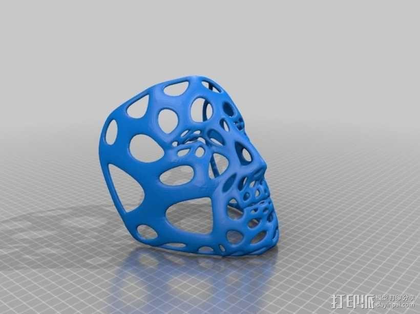 多边形面具-泰森多边形网格风格 3D模型  图3