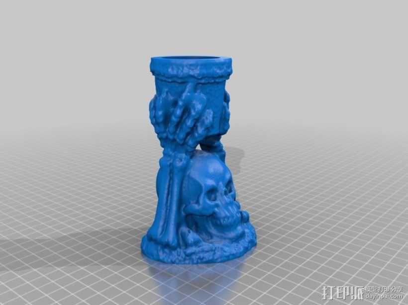 骨架蜡烛台 3D模型  图1