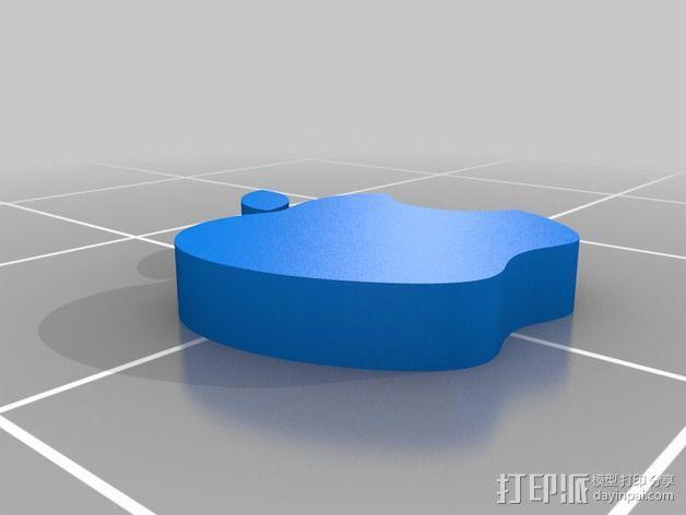 苹果LOGO 3D模型  图2
