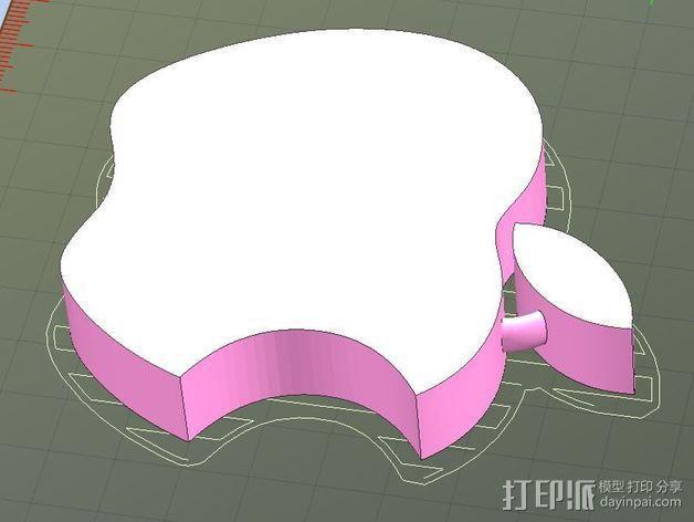 苹果LOGO 3D模型  图4