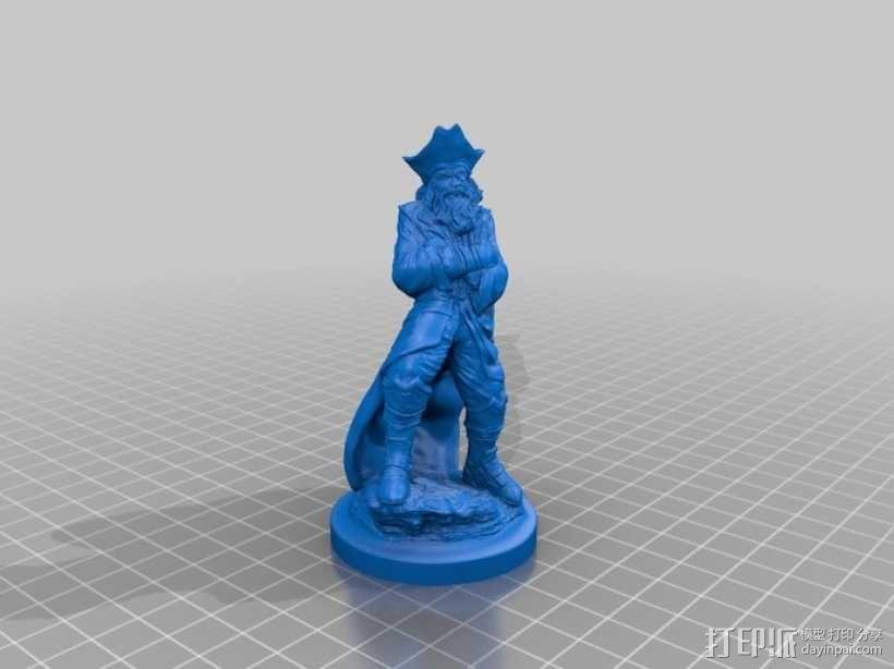 老船长 皮特 Pete雕塑 3D模型  图2
