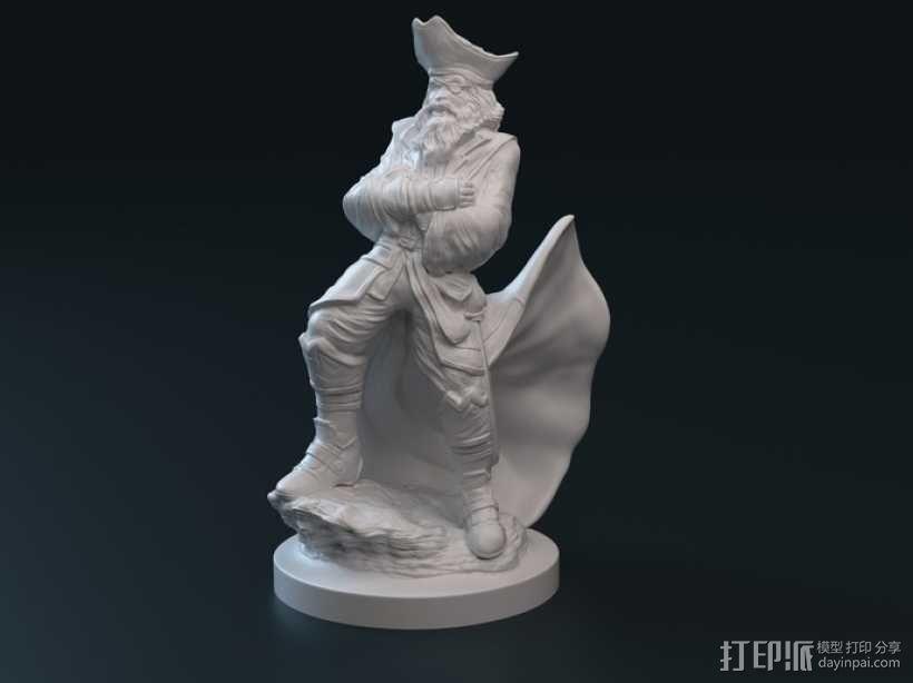 老船长 皮特 Pete雕塑 3D模型  图1