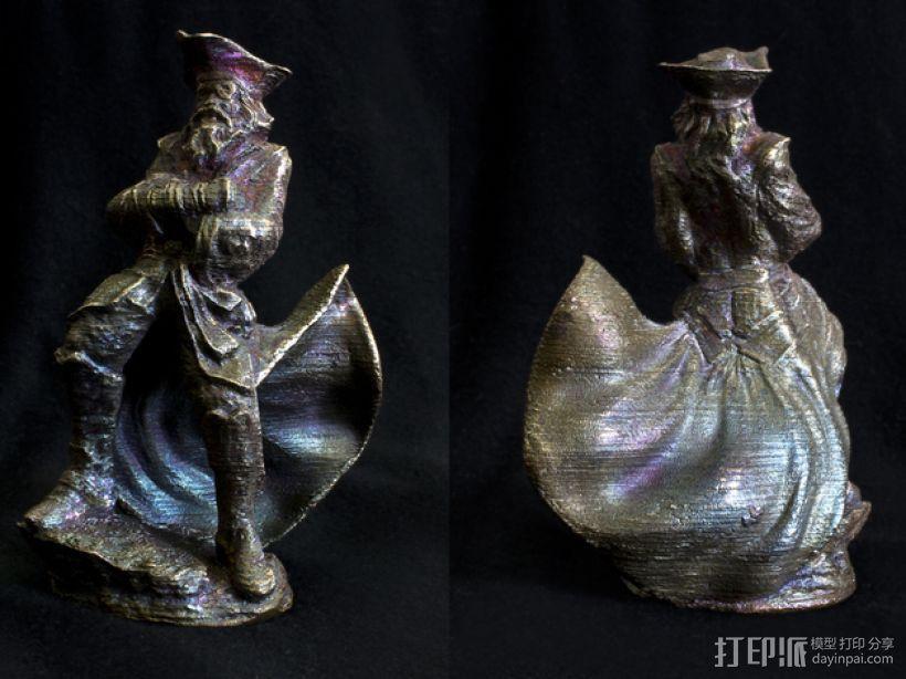 老船长 皮特 Pete雕塑 3D模型  图4
